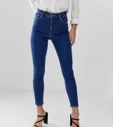 Vaqueros ajustados de tiro alto en lavado azul plano Ridley de ASOS DE...