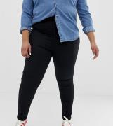Vaqueros Mom de corte slim en negro limpio Farleigh de ASOS DESIGN Cur...