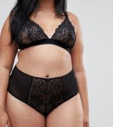 Braguitas de encaje de talle alto Roxy de ASOS DESIGN Curve