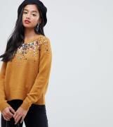Jersey con detalle de lentejuelas dispersas de ASOS DESIGN Petite